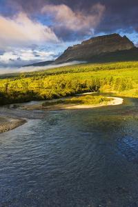 The Saint Mary River under Flattop Mountain, Glacier National Park, Montana, Usa by Russ Bishop