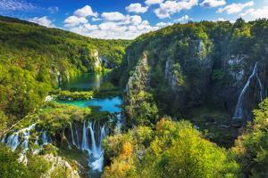 Travertine Cascades on the Korana River, Plitvice Lakes National Park, Croatia by Russ Bishop