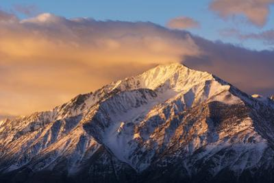 Winter sunrise on Mount Tom, Inyo National Forest, Sierra Nevada Mountains, California, USA by Russ Bishop