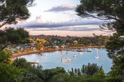 Russell at Sunset, Bay of Islands, Northland Region, North Island, New Zealand, Pacific-Matthew Williams-Ellis-Photographic Print