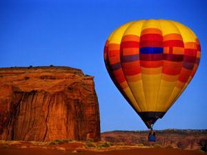 Arizona, Monument Valley, Hot Air Balloon by Russell Burden