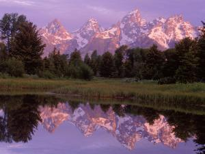 Mountains and Lake, Grand Teton National Park, WY by Russell Burden