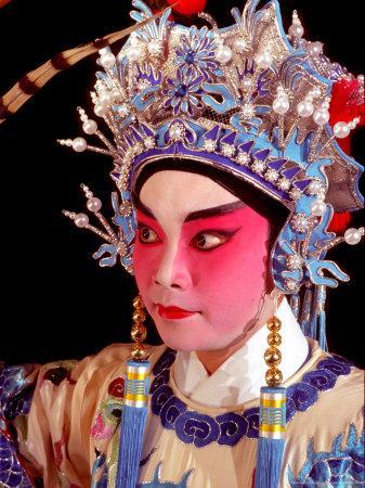 Actor from Yiu Ming, Cantonese Opera Group, Hong Kong, China