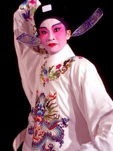 Actor from Yiu Ming, Cantonese Opera Group, Hong Kong, China by Russell Gordon