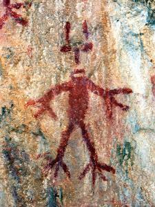 Ancient Sacred Mayan Paintings at Metzabok, Selva Lacandona, Metzabok, Chiapas, Mexico by Russell Gordon