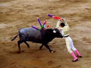 Bullfights, San Luis Potosi, Mexico by Russell Gordon