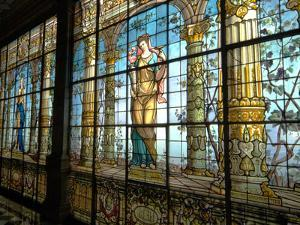 Chapultapec Castle, Gallery of Stained Glass Windows, Mexico by Russell Gordon