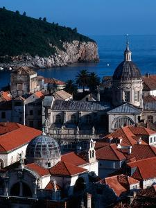Dalmation Coast on the Adriatic Sea, Medieval Walled City of Dubrovnik, Serbia by Russell Gordon