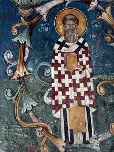 Frescoes in 14th Century Visoki Decani Monastery, Kosovo and Metohija, Serbia by Russell Gordon