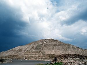 Great Pyramid of the Sun at Teotihuacan Aztec Ruins, Mexico by Russell Gordon