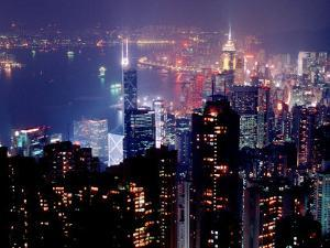Hong Kong Skyline from Victoria Peak, China by Russell Gordon