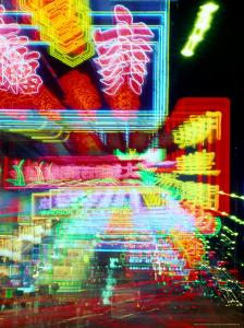 Neon Lights in Jordan and Mong Kok District, Hong Kong, China by Russell Gordon
