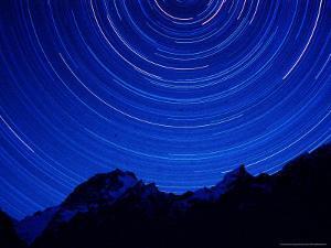 Star Swirls over Masherbrum, Hushe Peaks Area of Karakoram Himalaya, Pakistan by Russell Gordon