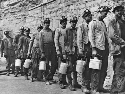 Coal Miners Checking in at Completion of Morning Shift. Kopperston, Wyoming County, West Virginia