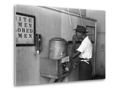 """""""Colored"""" Water Cooler in Streetcar Terminal, Oklahoma City, Oklahoma"""