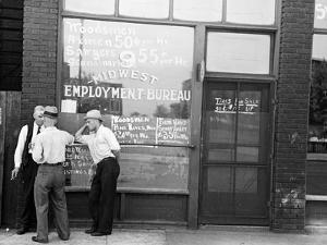 Employment Bureau, 1937 by Russell Lee