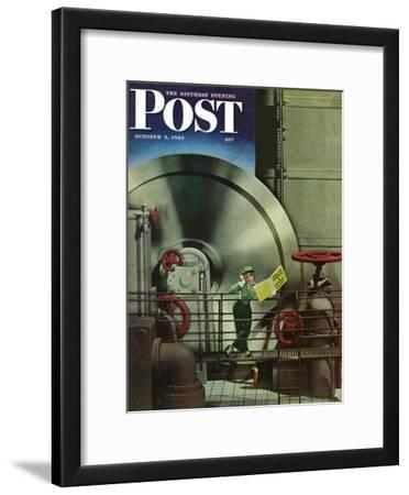 """How to Operate a Power Plant,"" Saturday Evening Post Cover, October 2, 1943"