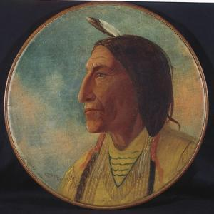 Portrait of Chief Wolf Robe, 1892 by Russell