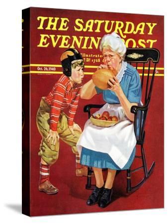 """Grandma and Football,"" Saturday Evening Post Cover, October 26, 1940"