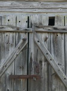 Boathouse Door at Norheimsund, Hardanger Fjord, Norway by Russell Young