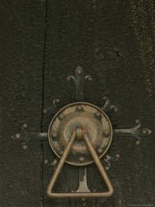 Door Lock of Hopperstad Stave Church, Sogne Fjord, Vic, Norway by Russell Young