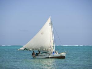 Fishing Boat, Caye Caulker, Belize by Russell Young