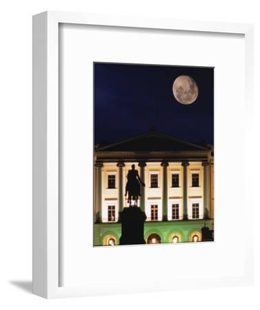 Full Moon over Royal Palace, Slotts Parken, Oslo, Norway