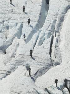 Glacier Hikers on Folgefonna Glacier, Norway by Russell Young