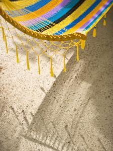 Hammock on Beach, Caye Caulker, Belize by Russell Young