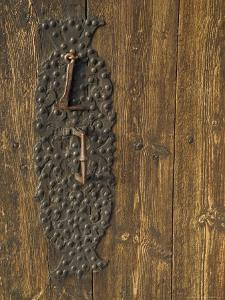 Handle on Historic Lom Stave Church, Norway by Russell Young