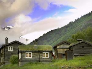 Homestead from Lom across Mt. Sognefjellet, Norway by Russell Young