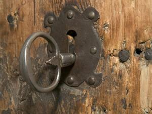 Key Lock, Vogo Stave Church, Vagamo, Norway by Russell Young