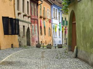 Medieval Old Town, Sighisoara, Transylvania, Romania by Russell Young
