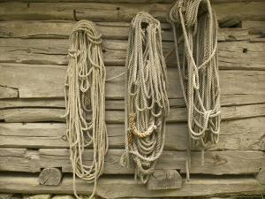 Ropes on Boathouse, Sognefjord, Norway by Russell Young