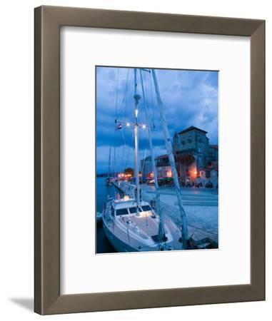 Sailboat in Harbor, Trogir, Croatia