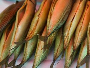 Smoked Mackerel, Bergen's Fish Market, Norway by Russell Young
