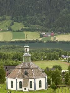 Sofar Fron Octagonal Stone Church, Laggen River Valley, Ringebu, Norway by Russell Young