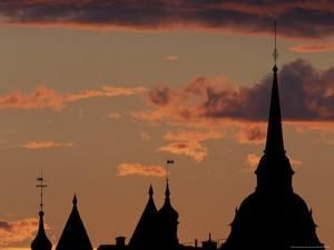 Towers of Mariahissen Along the Skyline at Sunset, Stockholm, Sweden by Russell Young