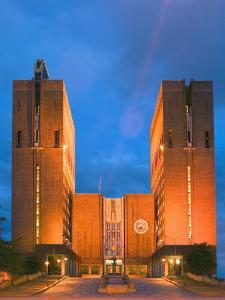 Town Hall, Oslo, Norway by Russell Young