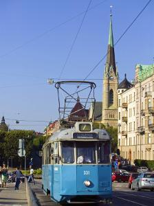 Tram, Stockholm, Sweden by Russell Young