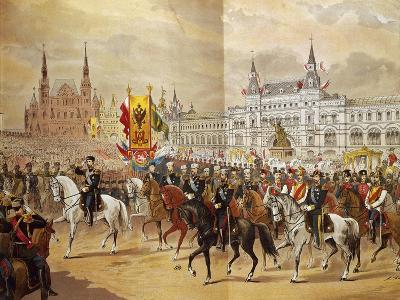 Russia, Celebration of the Coronation of Tsar Nicholas II--Giclee Print