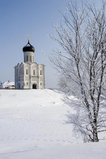 Russia, Golden Ring, Bogolyubovo, Church of Intercession on Nerl--Giclee Print