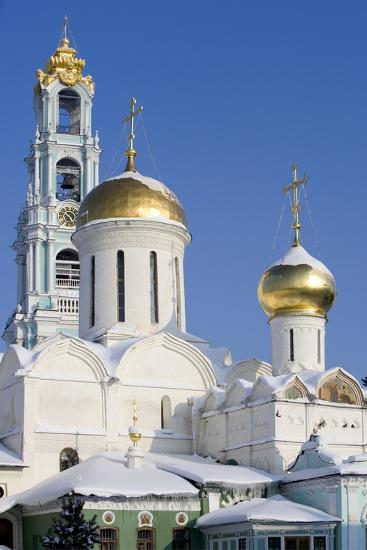 Russia, Golden Ring, Sergiev-Posad, Cathedral of Trinity--Giclee Print