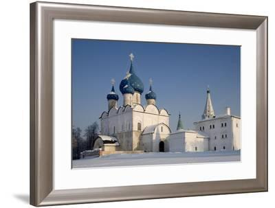 Russia, Golden Ring, Suzdal, Kremlin Walls and Cathedral of Nativity of Virgin--Framed Giclee Print