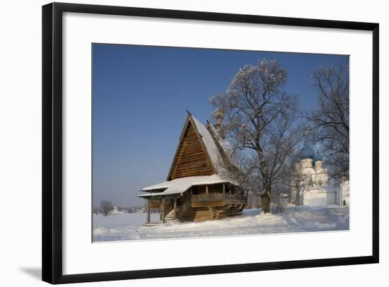 Russia, Golden Ring, Suzdal, Wooden Church of St. Nicholas--Framed Giclee Print