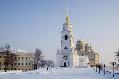 Russia, Golden Ring, Vladimir, Belltower and Assumption Cathedral--Giclee Print