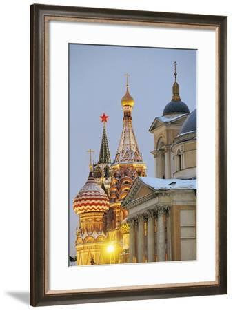 Russia, Moscow, Kremlin, Night View--Framed Giclee Print