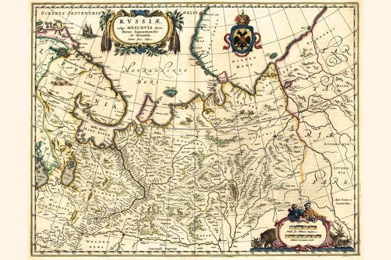 Russia Moscow Northern And Eastern Parts-Willem Janszoon Blaeu-Art Print