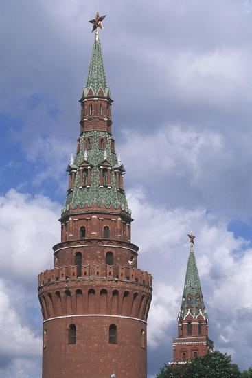 Russia, Moscow Region, Moscow, Kremlin, Water Tower--Giclee Print