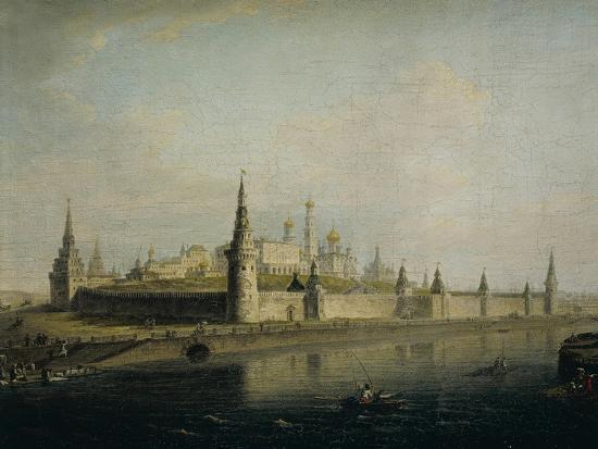 Russia, Moscow, View of the Kremlin from the Kamennyj Most, 1819--Giclee Print